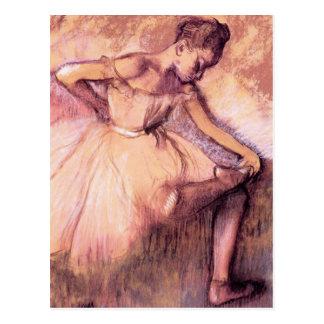 Degas Pink Ballerina Postcard