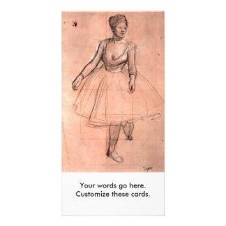 Degas pretty ballerina sketch ballet dancer art photo card