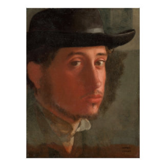 Degas, Self-portrait Poster