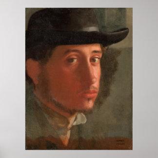 Degas, Self-portrait Poster