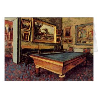 Degas - The Billiard Room Card