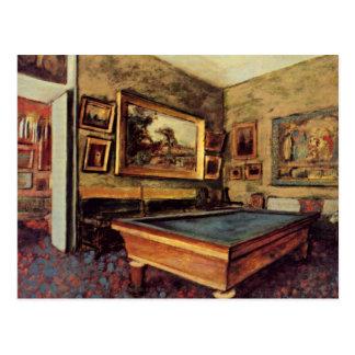 Degas - The Billiard Room Postcard