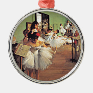 Degas - The Dance Class Silver-Colored Round Decoration