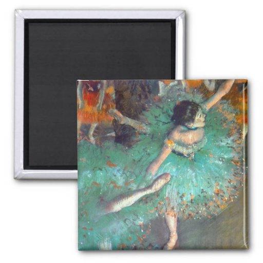 Degas - The Green Dancers Refrigerator Magnet