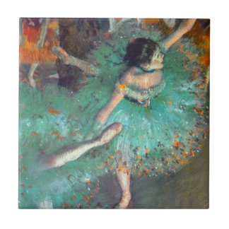 Degas - The Green Dancers Small Square Tile