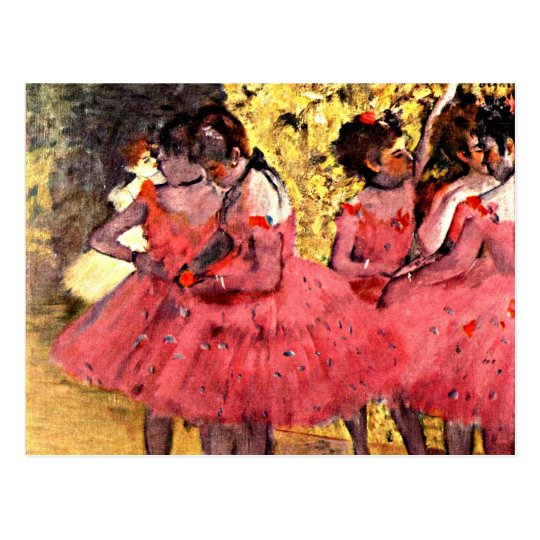 Degas - The Pink Dancers Postcard