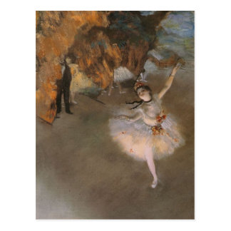 Degas The Star Postcard