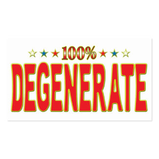 Degenerate Star Tag Business Card Templates