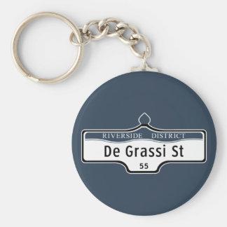 DeGrassi Street, Toronto Street Sign Basic Round Button Keychain
