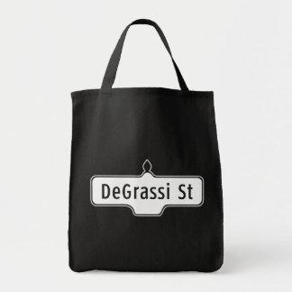 DeGrassi Street, Toronto Street Sign Grocery Tote Bag
