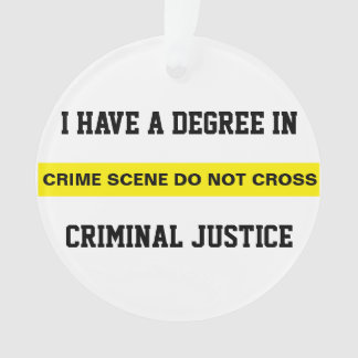 Degree in Criminal Justice Ornament