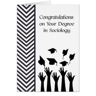 Degree in Sociology Card Black and White