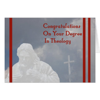 Degree in Theology Card with God and Cross
