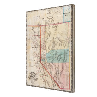 DeGroot's Map of Nevada Territory Canvas Print