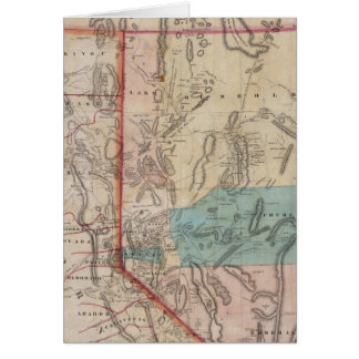 DeGroot's Map of Nevada Territory Card