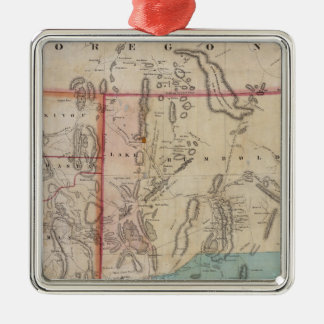 DeGroot's Map of Nevada Territory Silver-Colored Square Decoration