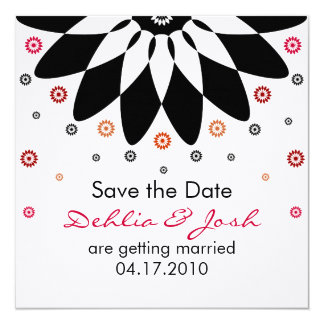 Dehlia Save the Date 13 Cm X 13 Cm Square Invitation Card