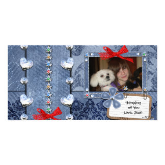 Deim Jeans Girly Greeting Personalised Photo Card
