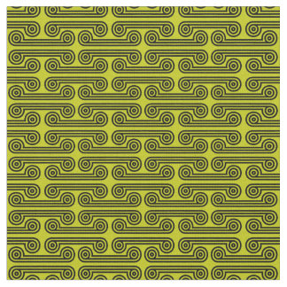 Deimos in Shades of Yellow Green Fabric