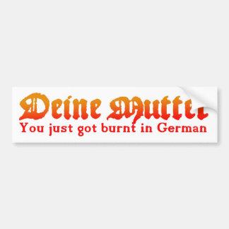 Deine Mutter Bumper Sticker