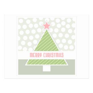 Deisgny Christmas Tree Postcard