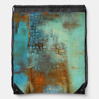 Deja Blue Drawstring Bag