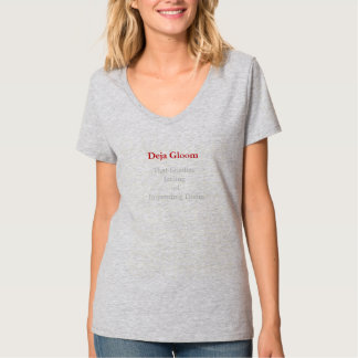 Deja Gloom the tshirt woman's version light steel