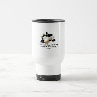 Deja Moo Bull Comic Stainless Steel Travel Mug
