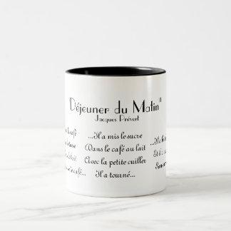 """""""Déjeuner du matin"""" by Jacques Prévert Coffee Mug"""