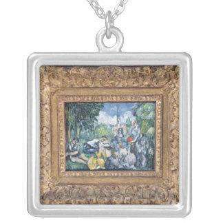 Dejeuner sur l'herbe, 1876-77 silver plated necklace