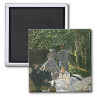 Dejeuner sur l'Herbe, Chailly, 1865 Square Magnet