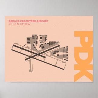 DeKalb-Peachtree Airport (PDK) Diagram Poster