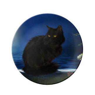 Deko plate Black Cat Porcelain Plates