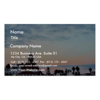 Del Coronado Sunset Business Card Templates