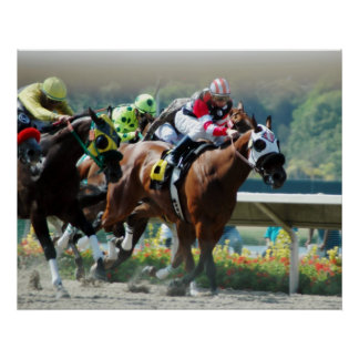 Del Mar Racetrack Poster