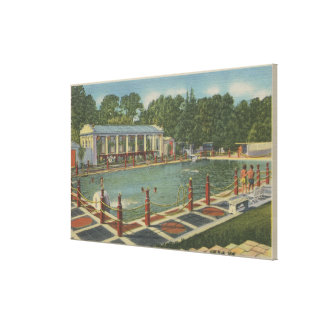 Del Monte, CA - The Roman Plunge at Hotel Stretched Canvas Print