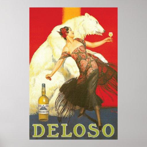 Del Oso Liqueurs Paris 1930s Poster