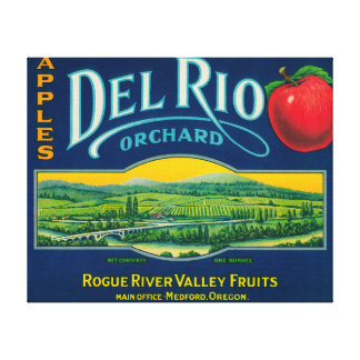 Del Rio Apple Crate LabelMedford, OR Canvas Print