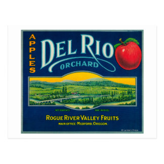 Del Rio Apple Crate LabelMedford, OR Postcard
