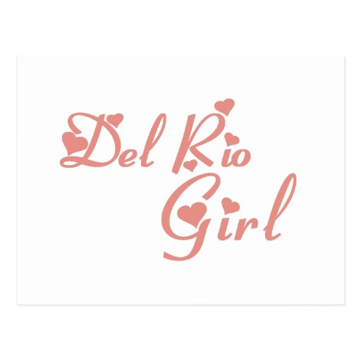 Del Rio Girl tee shirts Postcards