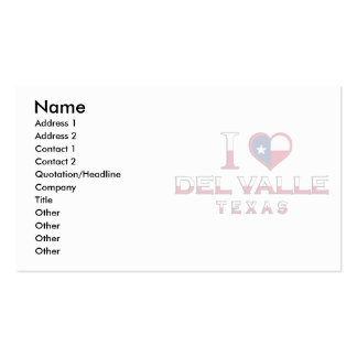 Del Valle Texas Business Card