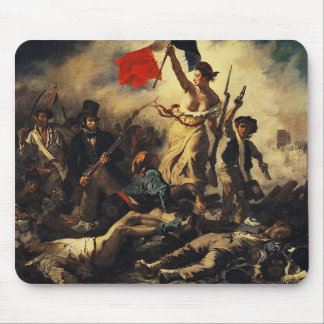 Delacroix and Liberty Leading the People (1830) Mouse Mat