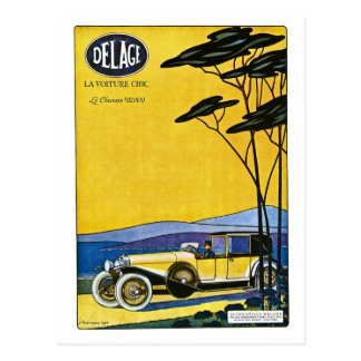 Delage Automobiles Postcard
