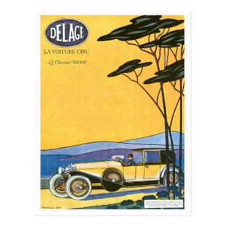 Delage Vintage Automobile Advertisement Post Card