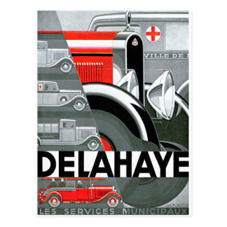 Delahaye ~ Vintage Automobile Advertisement Postcard