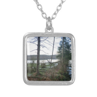 Delamere Forest Wetlands and Blakemere Moss Personalized Necklace