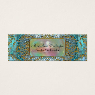 Delancey by the Sea Elegant  Professional Skinny Mini Business Card