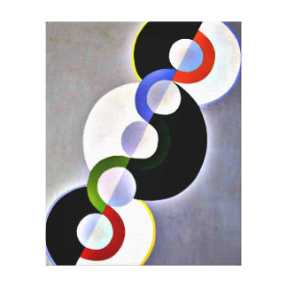 Delaunay - Endless Rhythm Stretched Canvas Print