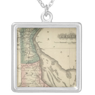 Delaware 2 silver plated necklace