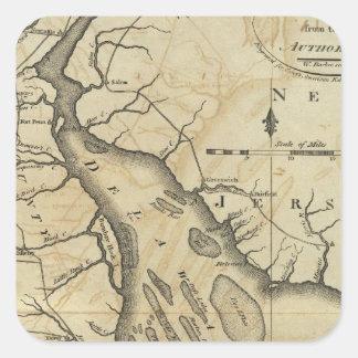 Delaware 2 square sticker